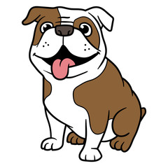 Vector Cartoon Bulldog