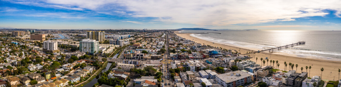 Venice beach Los Angeles California LA Aerial