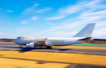 Commercial air plane isolated on white background. This has clipping path