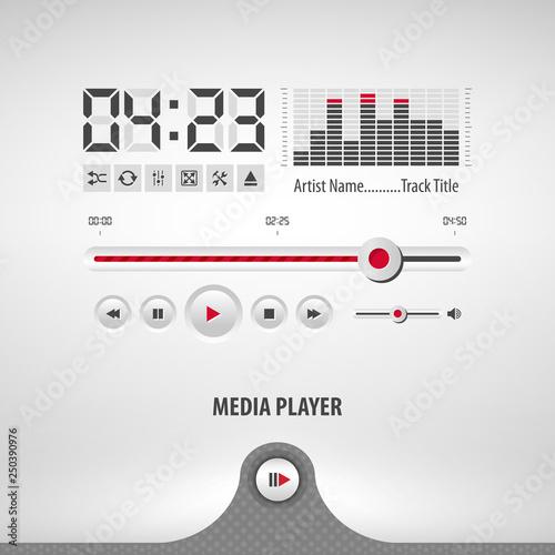 media player containing: two audio app designs, volume control knob