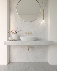 Bathroom White Marble