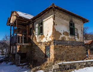 Abandoned buildings  in Milanovo village, Bulgaria