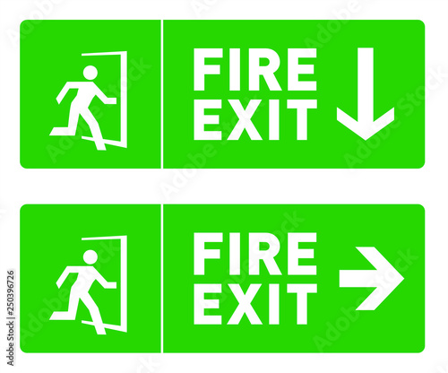 photograph about Printable Exit Signs referred to as Hearth Exit Signal Template; Environmentally friendly Unexpected emergency Exit Basic safety Signs and symptoms