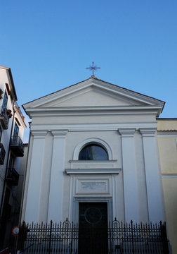 Italy : View of Saint Lucy De Judaica Church, in Salerno, February 2019.