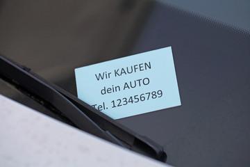 Wir kaufen dein Auto