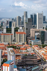Fototapete - Singapore City viewed from above