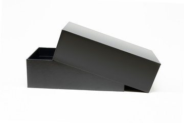 Pre-opened black box isolated on a white background