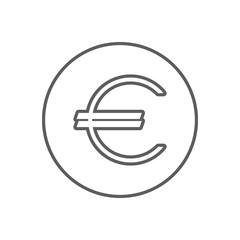 euro symbol icon. Element of Finance for mobile concept and web apps icon. Outline, thin line icon for website design and development, app development