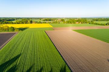 Landschaft in Deutschland aus der Luft Fotoväggar