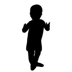 silhouette baby standing