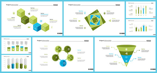 Business infographic diagram slide templates set