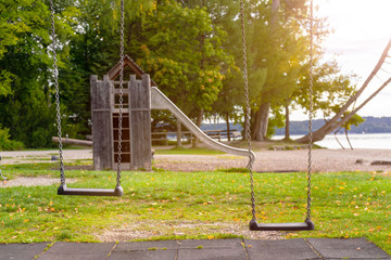lonely children's playground