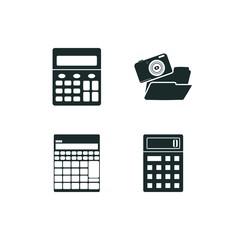 calculator icon set. accountant icon calculator and calculator icon vector icons.