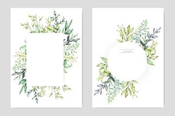 Fototapeta watercolor floral frame multi purpose background obraz