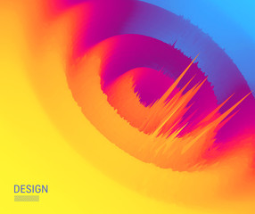 3d abstract background. Futuristic technology style. Big data graph visualization. Vector illustration.