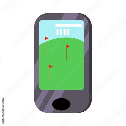 Mobile phone golf game vector  Smartphone, mobile app, online games