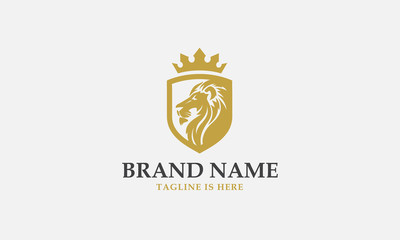 lion head logo design. lion king. lion face. elegant lion icon