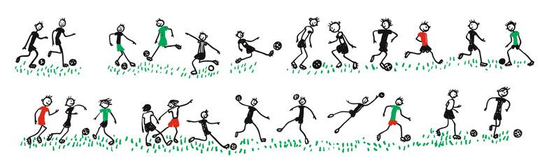 Jugendliche Fußballer beim Training