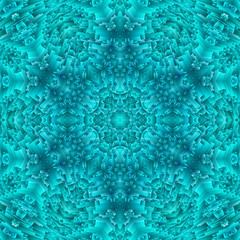 abstract blue ice pattern symmetry. ornament snowflake.