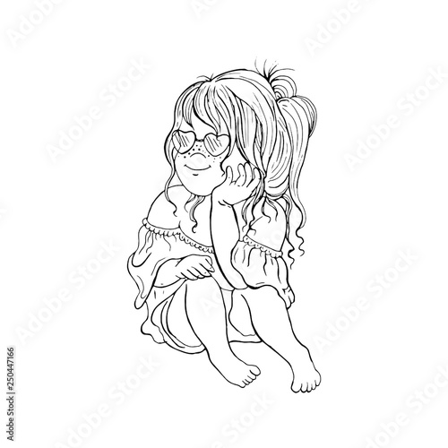 Vector Graphic Baby Characters Cartoon Character Cute Girl Stock