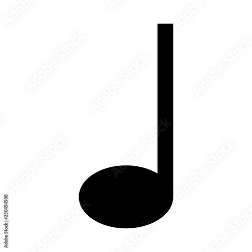 """Quarter note symbol"" Stock image and royalty-free vector ..."