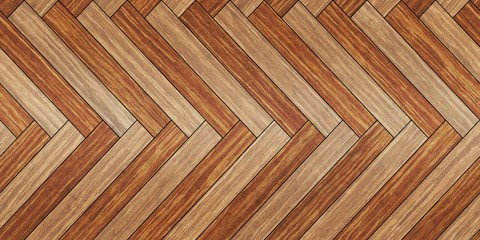 Seamless wood parquet texture horizontal herringbone brown