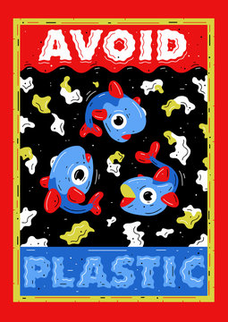 Avoid plastic placard