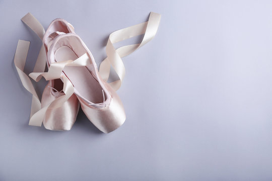 View of ballet shoes