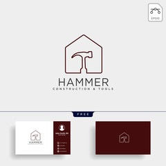 construction tools logo template vector illustration icon element