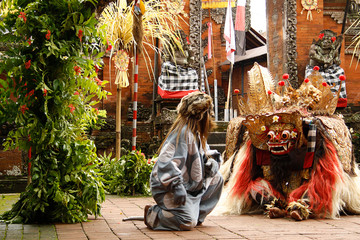 Balinese Barong Cultural Dance Show, Bali Wall mural