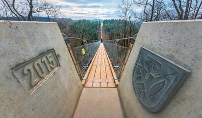 Der Weg ist das Ziel, Geierlay Hängeseilbrücke Hunsrück.
