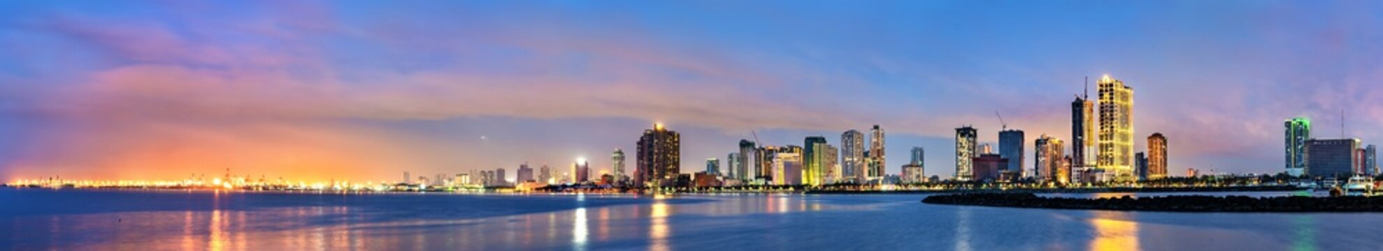 Skyline of Manila,the capital of the Philippines
