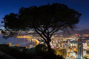 Benidorm Hiszpania Costa Blanca Alicante -  Miasto nocą