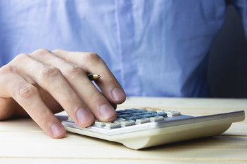 Business Calculating Invoice .
