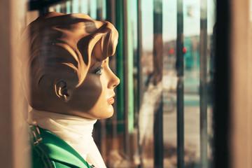 Vintage cloth shop manequinn dolls