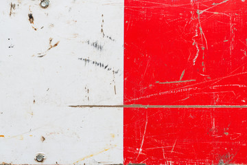 Wall Mural - Grunge red and white metal surface texture