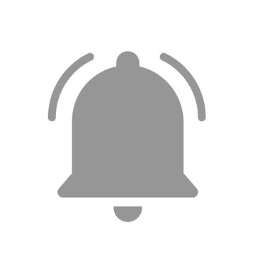 Notification bell icon black