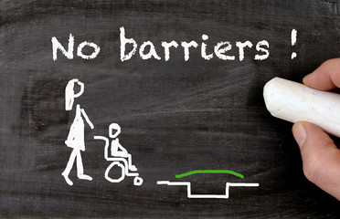 Barrier free environment chalkboard