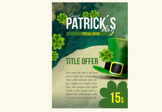 Saint Patrick's Day Special Offer Poster Layout