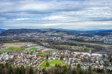 Panorama vom Bruggerberg