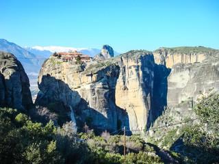 Meteora monasteries on the rocks in Greece