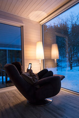 Relaxing in winter
