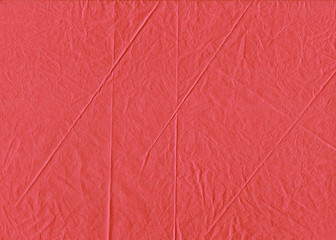 Crumpled Folded Tissue Paper Deep Coral Texture Backdrop