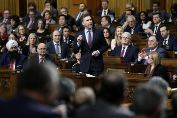 Canada's Finance Minister Morneau speaks during Question Period on Parliament Hill in Ottawa