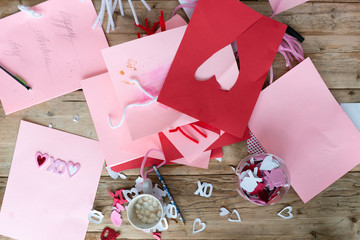 Homemade Valentine's Day crafts