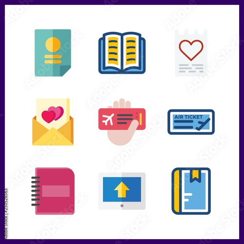 9 document icon  Vector illustration document set  notebook and up