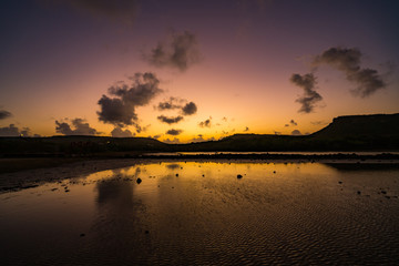 Sunset  Views around the small Caribbean Island of Curacao