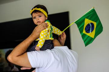 pai e filha seleção brasileira