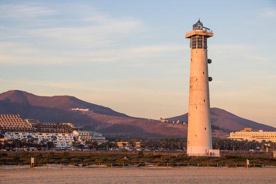 Lighthouse of Morro Jable, Fuerteventura, Spain