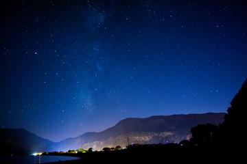 night landscape with stars in Mediterranean